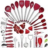 VEICA, Kitchen Utensils Set, 42Pcs Nylon Cooking Utensils Set, Heat Resistant Kitchen Non-Stick Cooking Utensils Baking Tools