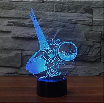 Iluminación Nocturna 3D Led Colorido Degradado Accesorios De Luz ...