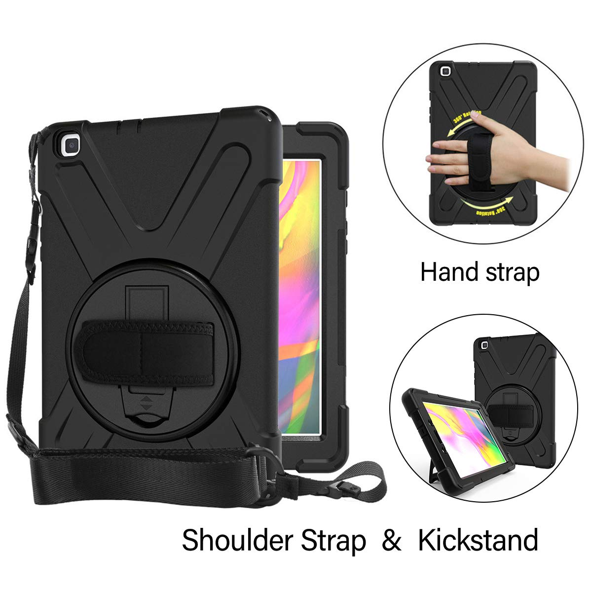 Yudesun Case for Samsung Galaxy Tab A T290 SM-T290 T295 T297 Stand Silicone Soft Skin Shockproof Protective Cover Case for Samsung Galaxy Tab A 8.0 2019 8 inch Tablet