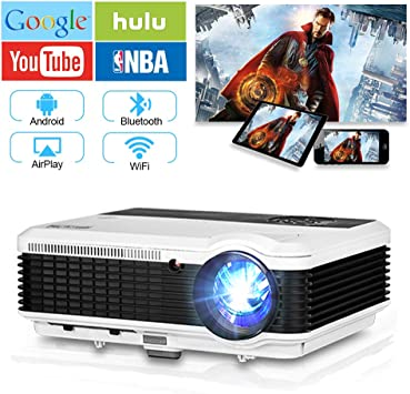 Inalámbrico Proyector WiFi con Bluetooth, 4600 Lúmenes Full HD ...