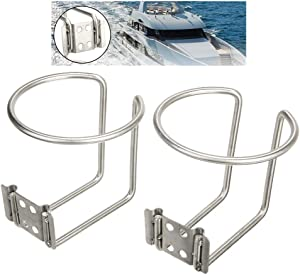 Pi-Pi 2pcs Stainless Steel Boat Ring Cup Drink Holder for Marine Yacht Truck RV Car Trailer Hardware