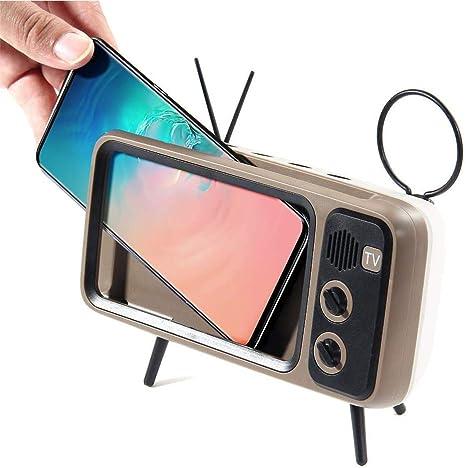 Mini tragbare Retro Bluetooth Lautsprecher TV Handyhalter FM Radio