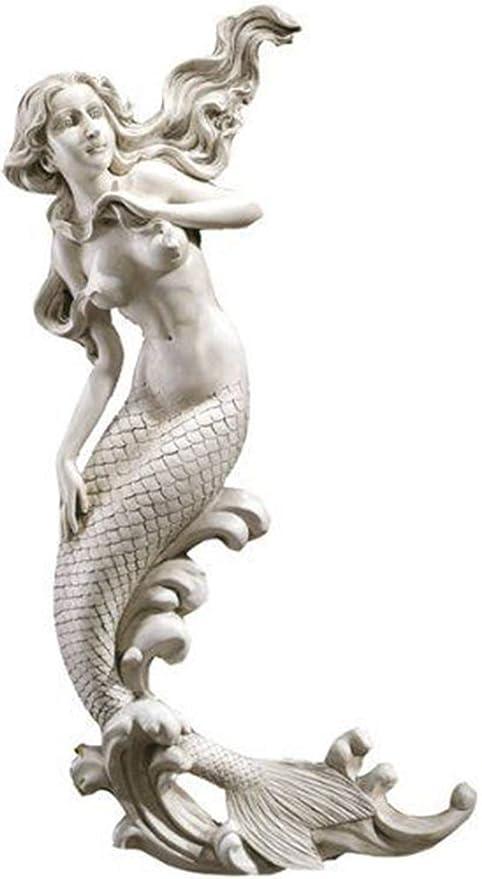 """Aquatic Dream Mermaid Wall Sculpture 33/""""H Fantasy Nautical Decor NEW"""