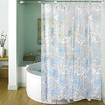 Carttiya Mildew Resistant Shower Curtain Liner EVA PEVA Bath Mold PVC Free 72 X Leaves