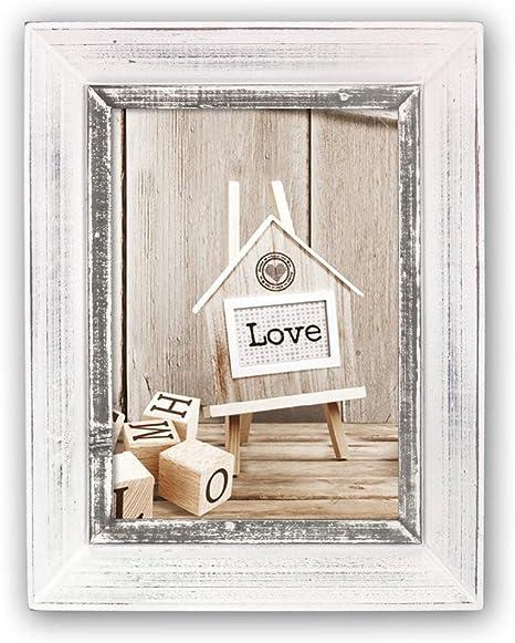 Foto Holz Rahmen 10x15 mit Aufsteller Wechselrahmen Bilderrahmen