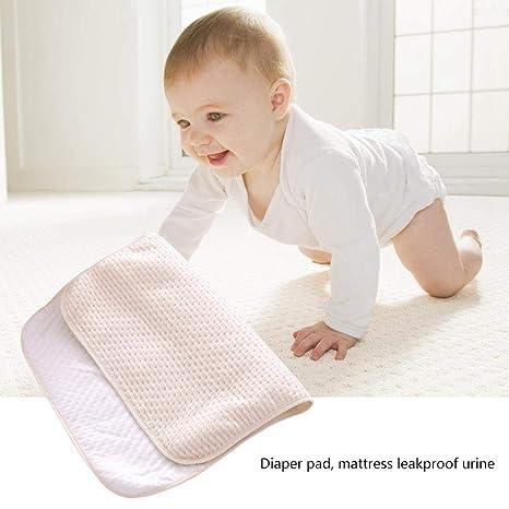 Colchoneta para orina de bebé,algodón impermeable cambiador de pañales, manta absorbente colchón,