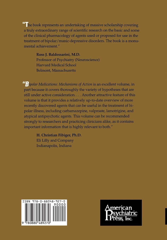Bipolar Medications: Mechanisms of Action: Amazon.es: Manji ...