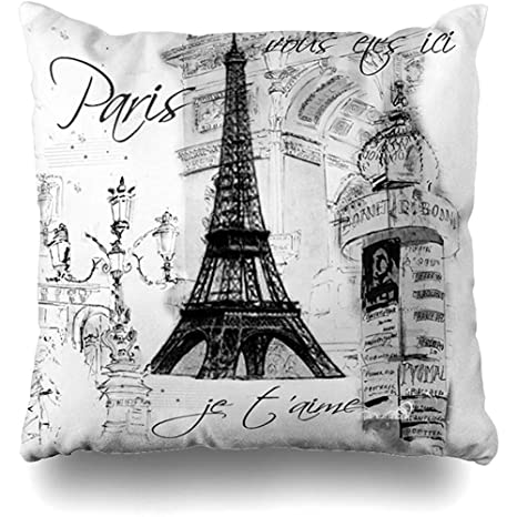 LOVE GIRL Fundas de cojín Vintage francés París Torre Eiffel ...