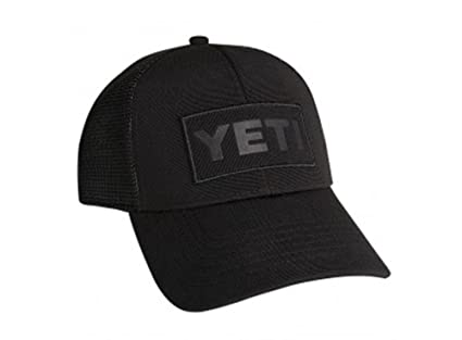 dfbe83ea79622 Image Unavailable. Image not available for. Color  YETI Black on Black  Patch Trucker Hat
