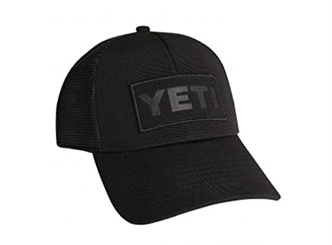 YETI Black on Black Patch Trucker Hat  Amazon.ca  Sports   Outdoors 41058bd9281