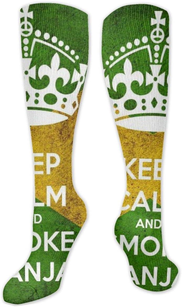 NA - Calcetines largos de algodón por encima de la rodilla, 50 cm, retro, unisex, para muslo, botas de cosplay, botas largas, 50 cm, para deportes, gimnasio, yoga, marihuana, hierba y drogas