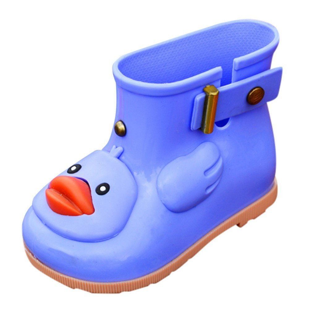 Clearance,Yamally Boy's Girl's Yellow Duck Waterproof Shoes Warm Waterproof Boots Rain Boots for Kids Yamally_9R