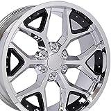 2012 chevrolet suburban rims - 22x9.5 Wheel Fits GM Trucks and SUVs - Deep Dish Silverado Style Chrome Rim w/Black Inserts