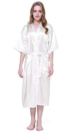 Traje para Mujer Satén Largo Estilo Vintage De Traje Kimono ...