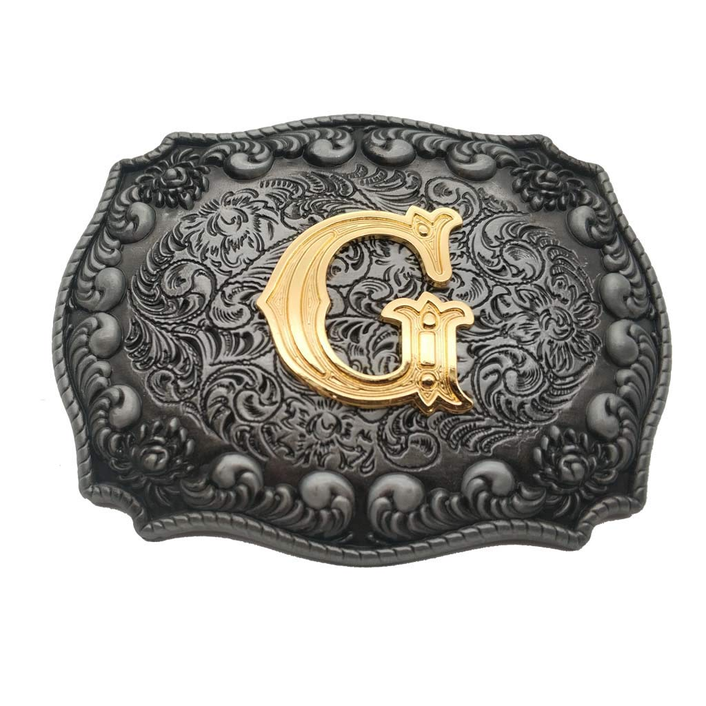 Initial Belt Buckle Letter C Western Rodeo Cowboy Buckles