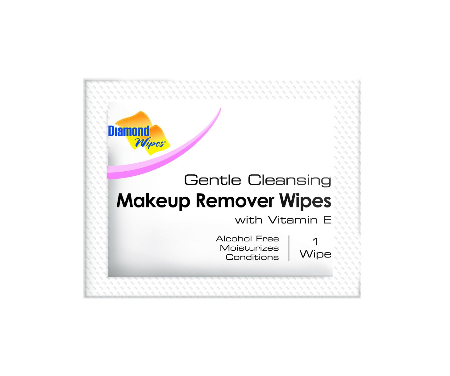 Gentle Makeup Remover Cleansing Face Wipes - Facial Towelettes with Vitamin E for Waterproof Makeup - Individually Sealed Wrappers Bulk Buy Pack of 500 by Diamond Wipes