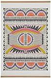 "Tribal Multi-Color Art Print with Oak Hanger, 30"" x 40"""