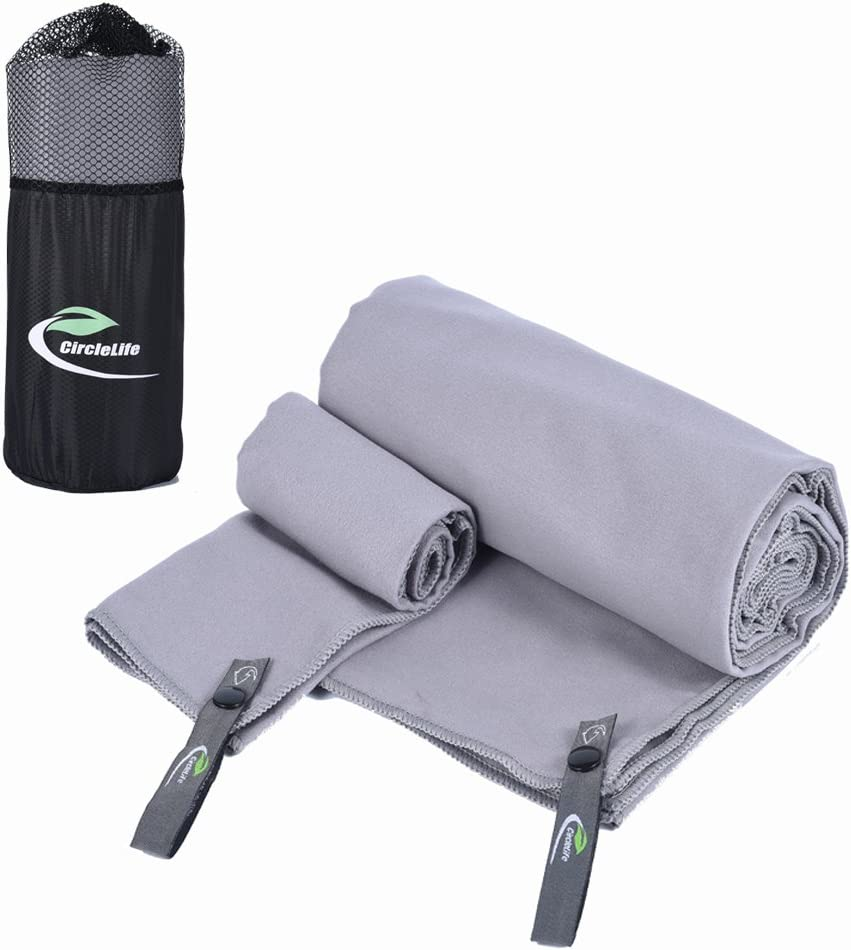 14X14 Yoga or Bath Travel Sports Quick Drying XL Cicife 2 Pack Quick Dry Beach Bath Towel 63 X 32 with Hand//Face Towel /& Mesh Bag for Swimming Beach Camping