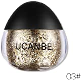 Face Body Glitter Paste, Shimmer Metallic Color Diamond Highlighter Cream Gold Silver Holographic OYOTRIC Glitter Make Up