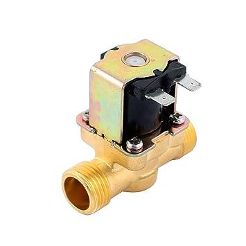 """sourcingmap® G1 / 2 """"de latón de agua de la válvula solenoide normalmente"""