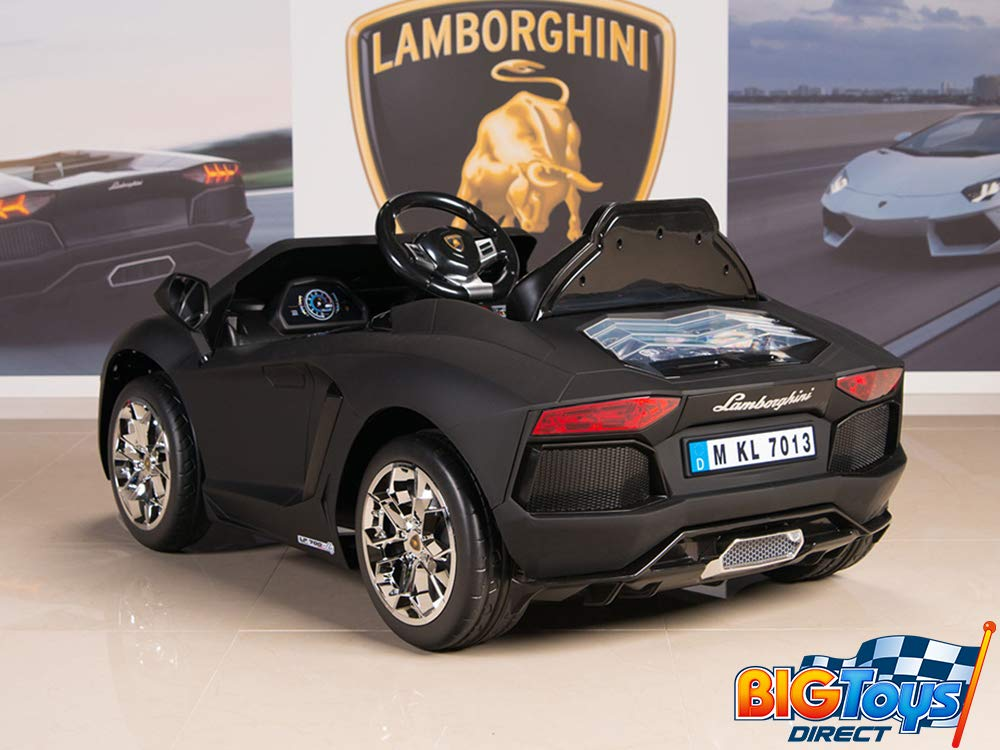 151a45ca0d1 Amazon.com: BIG TOYS DIRECT Lamborghini Aventador 12V Kids Ride On Battery  Powered Wheels Car with 2.4GHz RC Remote, Black: Toys & Games