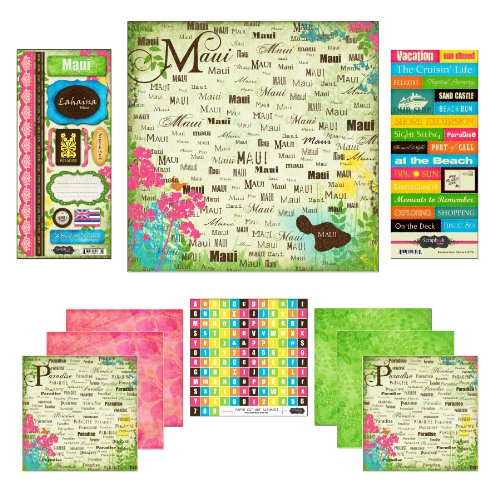 - Scrapbook Customs Themed Paper and Stickers Scrapbook Kit, Maui Paradise