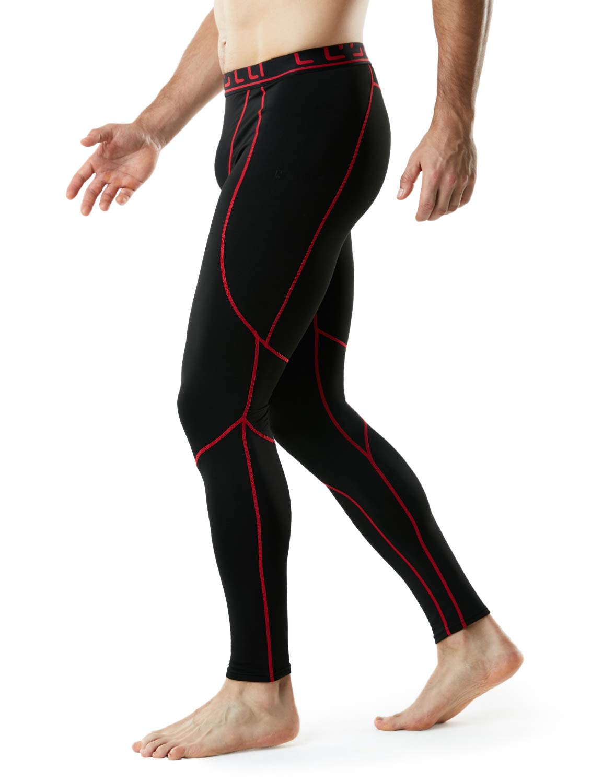 TSLA TM-YUP43-KKR_3X-Large Men's Emboss Pants Thermal Wintergear Compression Baselayer Sports Leggings YUP43 by TSLA (Image #6)
