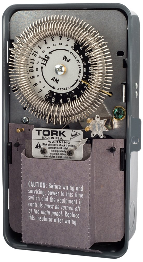 8000 Series Many Daily ON/OFF Operations Per Day Duty Cycle 24 Hour Time Switch, 24 Hour With 7 Day Omit and Reserce Power, Metal Indoor NEMA 1, 208-277 Input Supply, SPDT Output Contact