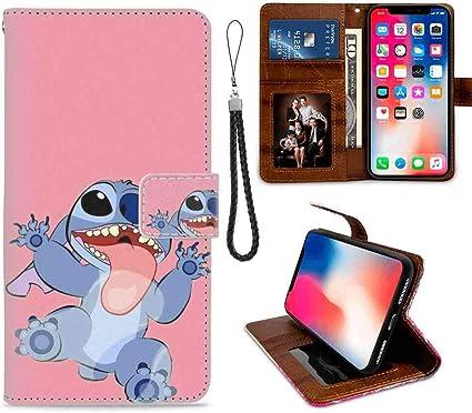 Amazon Com Wallet Case Compatible Apple Iphone Xs Max 6 5in Disney Wallpaper Lilo Y Stitch Tumblr Cartoon