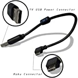 USB Power Cable (Power Cord) for Chromecast,Roku Sticker and Amazon Fire Sticker,with Current Stablizer