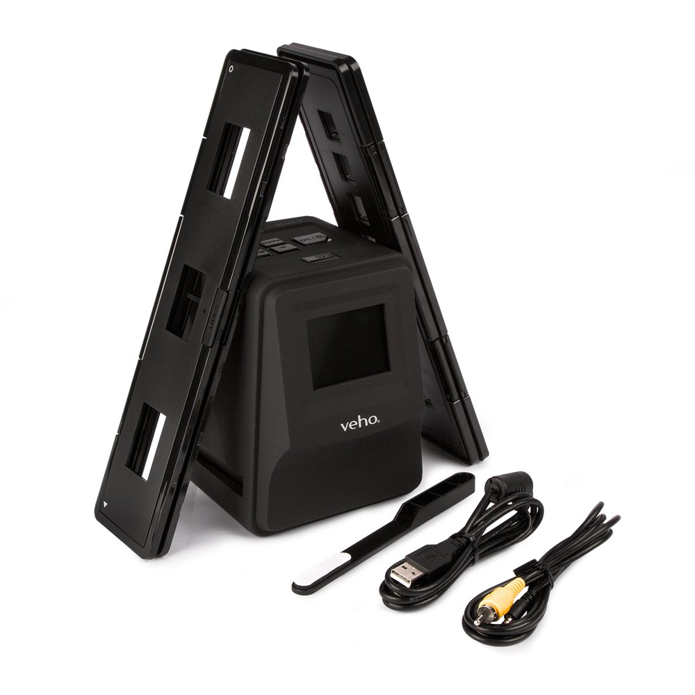 """Veho Smartfix Portable Stand Alone 14 Megapixel Negative Film & Slide Scanner with 2.4"""" Digital Screen and 135 Slider Tray for 135/110/126 Negatives Compatible with Mac/PC – Black (VFS-014-SF) by Veho (Image #2)"""