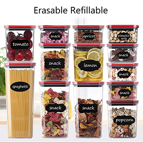 Chalkboard Labels & Markers - 132 Premium Reusable Waterproof Erasable Chalkboard Stickers with 3 Markers for Mason Jars, Bottles, Cups, flowerpots, Containers, Closets - Organize Your Home&Office