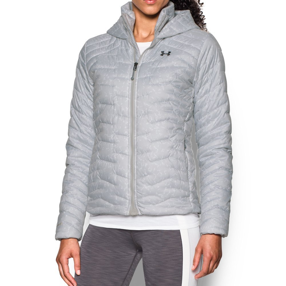 Under Armour Women's ColdGear Reactor Hooded Jacket, Glacier Gray/Steel, Medium by Under Armour