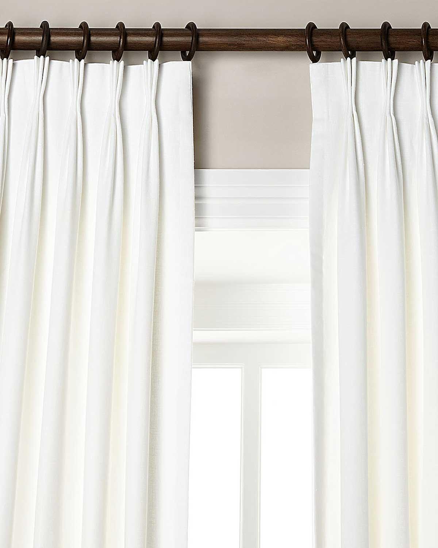 Amazon.com: 100% Linen pinch pleated lined window curtain panel ...