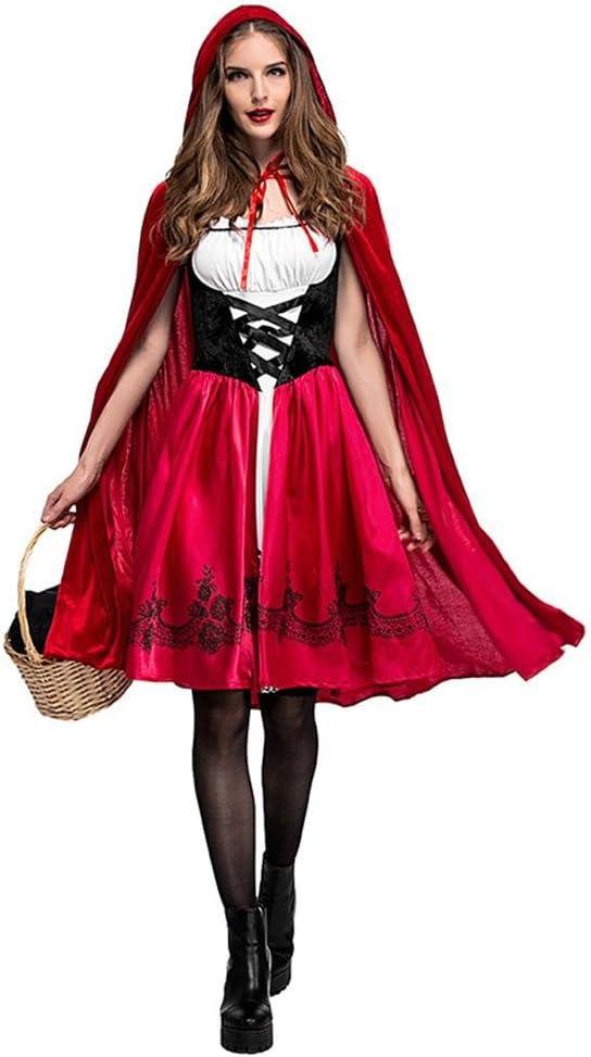 duhe189014 Disfraz De Caperucita Roja Clásico para Mujer Vestido ...