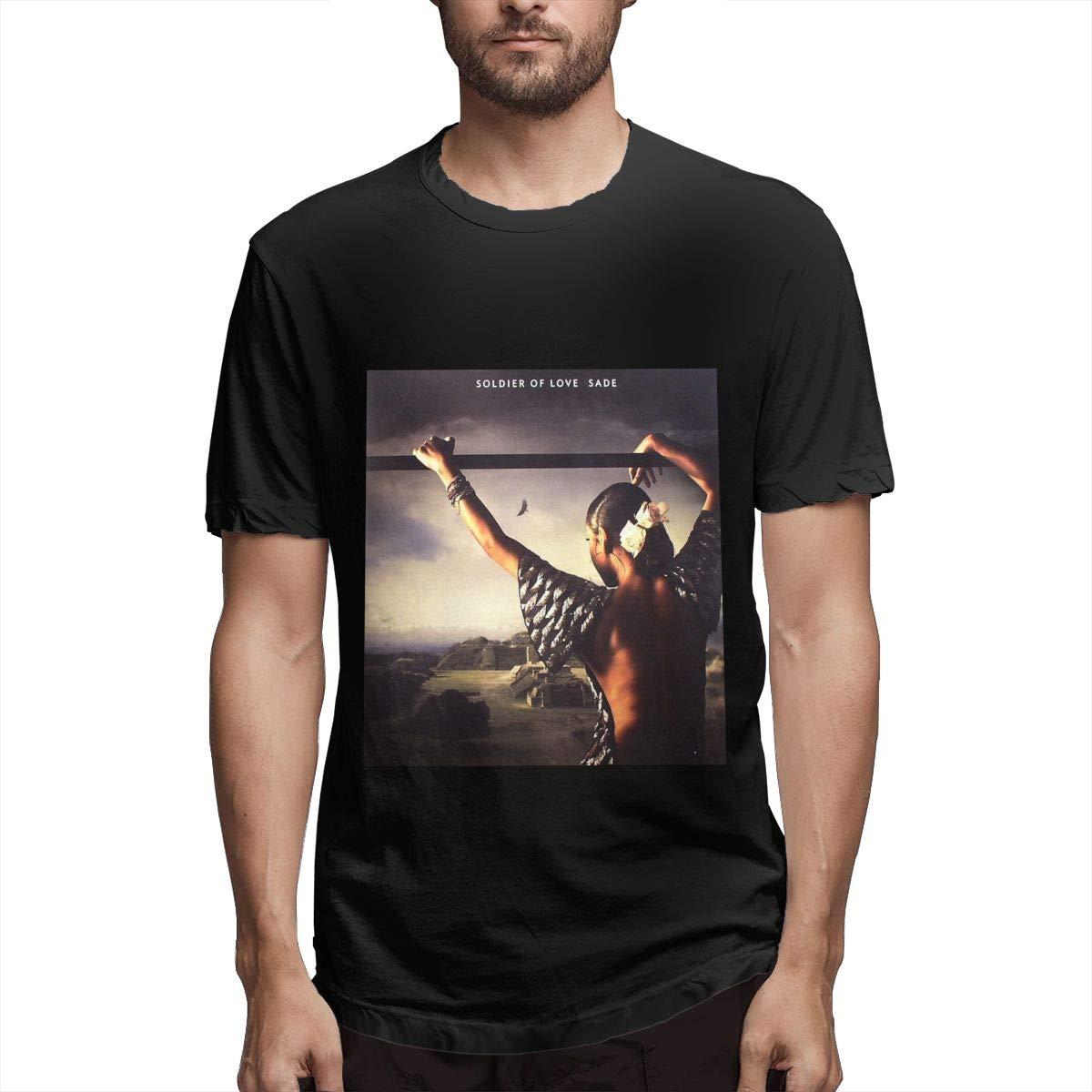 Lihehen Sade Solider Of Love Retro Printing Round Neck Tees Shirts