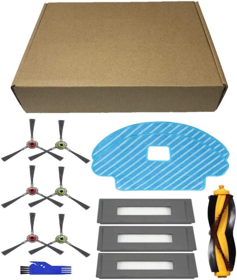 Kit de Cepillos Filtros y Mopas Pack de 16 PCS MTKD/® Recambios para Aspiradora Ecovacs Deebot OZMO 930
