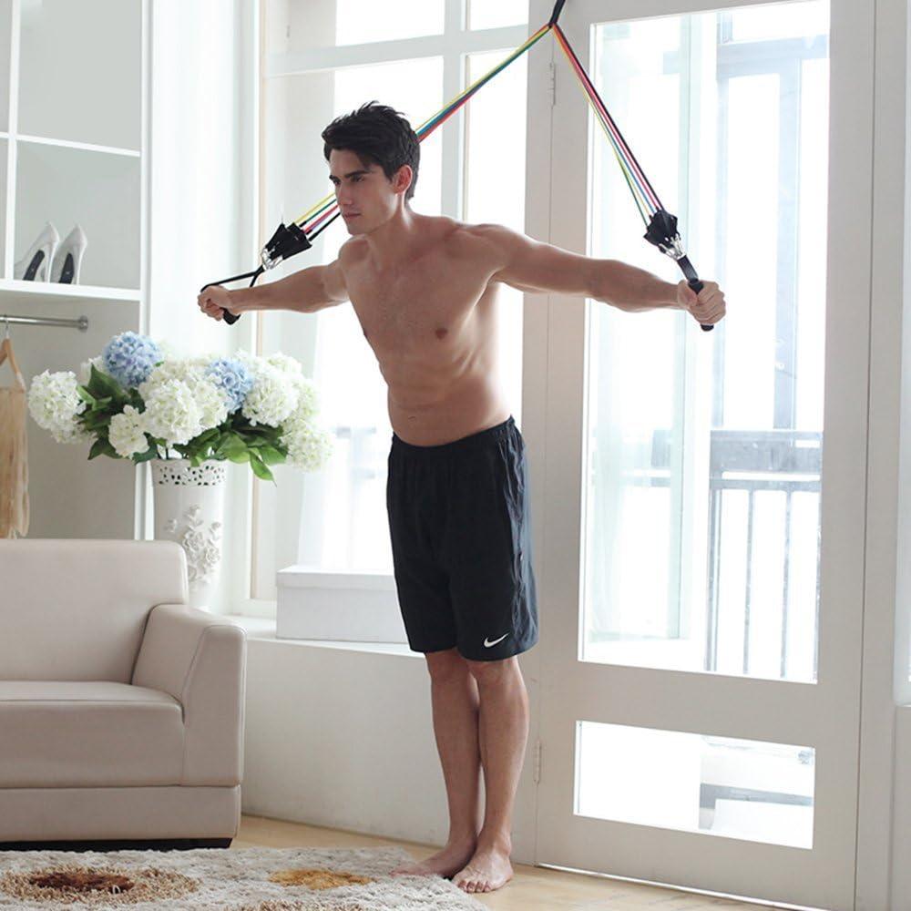 Bandas Yoga de resistencia,Oummit Cuerda de Resistencia de Látex de Caucho Natural, Cuerda Elástica Multicolor Kit de Gym para ...