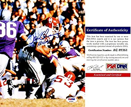 Steve Owens Signed - Autographed Oklahoma Sooners 8x10 inch Photo - PSA DNA  Certificate of 479a73991