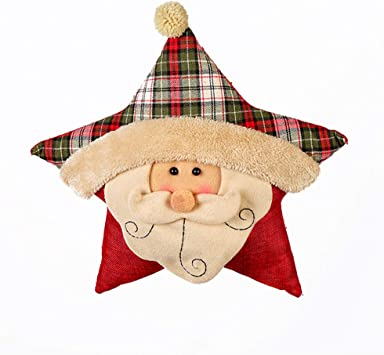 Amazon.com: LYFWL - Cojín de Navidad, diseño de corona de ...