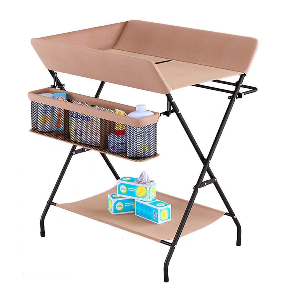 Baby Massage Touch Auxiliary Table, Change Diaper Table Baby Care Table Newborn Bed, Foldable Baby Shower Table