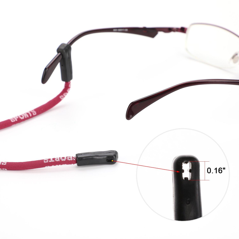 Hifot cordino per occhialii uomo donna bambino sport 4 pezzi con panno per occhiali regolabile cinturino per occhiali da sole Catenine e cordini