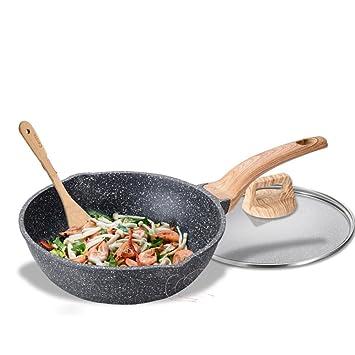 XiongDaDa Woks y sartenes salteados,Cacerolas de,Sartén Antiadherente sartén Sin pfoa Utensilios de Cocina Multifuncional 28cm-B: Amazon.es: Hogar