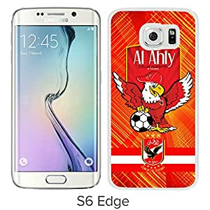 New Fashion Custom Designed Skin Case For Samsung Galaxy S6 Edge With Al Ahly White Phone Case 3