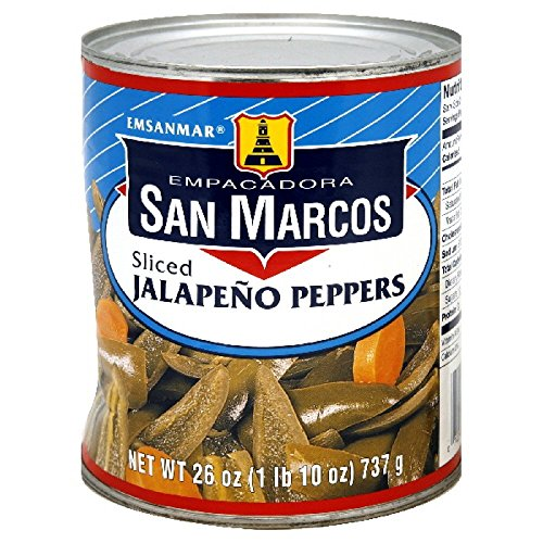 (San Marcos Sliced Jalapeno Peppers 26 Oz (Pack of 4))