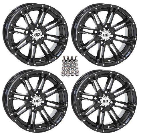 (STI HD3 ATV Wheels/Rims Black 14