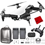 DJI Mavic Air Quadcopter with Remote Controller - Arctic White Max Flight Bundle with Spare Battery, and Custom Mavic…