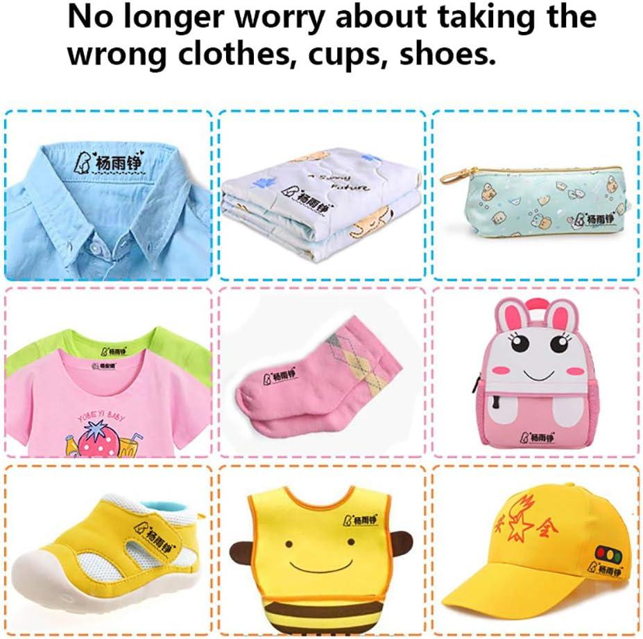 Sello de tela personalizado para ni/ños Sello de nombre personalizado para ropa y libros Marcadores de ropa para ni/ños Sello autoentintado personalizado
