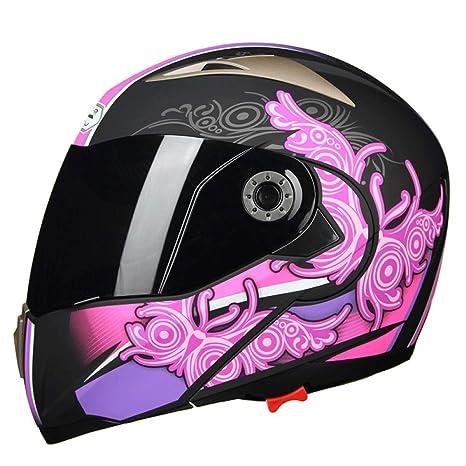 gyl La Cara Llena Racing Casco De La Motocicleta, Moto 802-2 Crash Modular Casco - con Parasol para Hombres Mujeres, Bluetooth Friendly (no ...