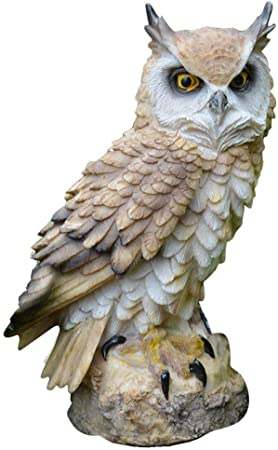 urbenlife Figura Buho Resina Innovadores Adornos De Jardín A Prueba De Pájaros con Forma De Búho Artesanal De Resina Sweet: Amazon.es: Hogar